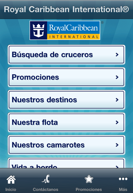 Royal Caribbean - Aplicacion iPhone