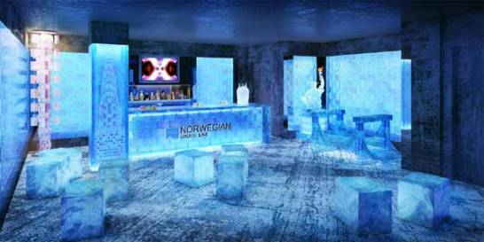 Ice bar Norwegian Breakaway