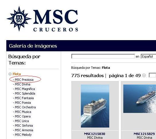 MSC Preziosa en la flota