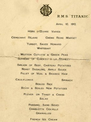 Menú del Titanic