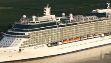 Celebrity Equinox por el rio Ems