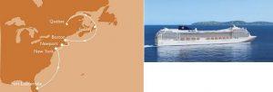 Itinerario MSC Poesia - Canada y Nueva Inglaterra