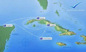 Itineario Crucero Adriana desde Progreso