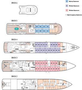 Plano del crucero Tere Moana