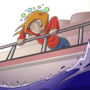 Mareo en el crucero